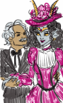 ancestors artaline colonel_sassacre fashion formal hat her_imperious_condescension holding_hands mark_twain no_glasses redrom shipping sketch