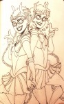 aranea_serket crossover dancestors dream_ghost meenah_peixes sailor_moon yoccu