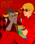 abnest apple_juice dave_strider food freckles godtier knight tavros_nitram wheelchair