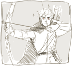 au bow crossover dave_strider highlight_color lord_of_the_rings no_glasses sketch solo tolkien weapon yt
