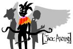 archagent arijandro jack_noir jackspers_noirlecrow multiple_personas regisword silhouette spades_slick text