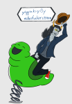 hat solo text thatlldoodles vriska_serket word_balloon