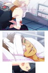bed comic crossover dirk_strider dri gainax jake_english neon_genesis_evangelion no_glasses