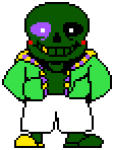 crossover ggthefandomtrash image_manipulation lord_english parody pixel solo transparent undertale