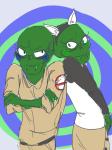 animal_ears arms_crossed cherubification jade_harley john_egbert siblings:johnjade spaceeyes