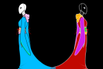 back_to_back black_queen blood bq fashion feudal_japan formal kiwitank white_queen wq