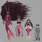 ancestors aquariumstuck dancestors feferi_peixes height_chart her_imperious_condescension humanized karkat_vantas meenah_peixes merfolk salihombox
