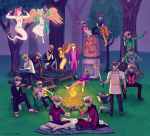 alpha_dave apple_juice arquiusprite beverage bro brobot carrying cosmic-rumpus dave_strider davepetasprite^2 davesprite dirk_strider dreamself felt_duds fistbump gasmask godtier heart_aspect heart_shirt humanized knight lil_hal multiple_personas prince red_baseball_tee red_plush_puppet_tux sitting smuppets sprite starter_outfit strong_outfit strong_tanktop time_aspect trees trickster_mode unbreakable_katana