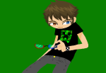 bilbo-swwaggins humanized image_manipulation minecraft no_glasses sollux_captor solo