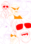 alpha_dave body_modification bro dirk_strider headshot hst lineart meme ohgodwhat rose_lalonde roxy_lalonde strilondes strong_tanktop tom_cruise