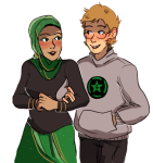 achievement_hunter arm_in_arm fashion_bee humanized kanaya_maryam koalanurples rooster_teeth shipping sollux_captor