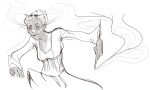 fashion formal grayscale grimdark rose_lalonde solo thorns_of_oglogoth thyphos-tales