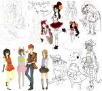 2spooky 3_in_the_morning_dress aradia_megido arms_crossed art_dump beverage carrying crossover damara_megido dancestors dave_strider disgaea dream_ghost equius_zahhak fankid fantroll fashion formal godtier hat heart hunting_rifle jade_harley knight meulin_leijon near_kiss nepeta_leijon no_glasses peter_pan redrom sailor_fuku shipping sketch sollux_captor space_aspect spacetime sweat tavros_nitram time_aspect witch x1shia664x