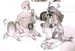 aurthour blood equius_zahhak fairy_dress fruityrumpus grubs kiss kneeling lusus tavriska tavros_nitram vriska_serket