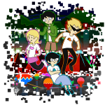 alpha_kids arms_crossed dirk_strider jake_english jane_crocker jealouscartoonist land_of_crypts_and_helium land_of_mounds_and_xenon land_of_pyramids_and_neon land_of_tombs_and_krypton roxy_lalonde