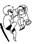 arijandro book dave_strider diabetes katana lineart rose_lalonde siblings:daverose sleeping squiddles