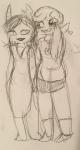 dancestors heart holding_hands pencil porrim_maryam redrom rimrock roxy_lalonde shipping sketch tetratastic