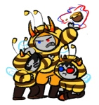 ancestors bee_outfit captors dancestors karasisdevi mind_honey mituna_captor no_hat sollux_captor the_psiioniic