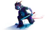 blindfold blood dragonhead_cane gore kneeling panel_redraw solo terezi_pyrope yoccu