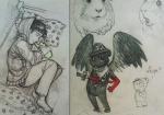 animals au bec_noir bed blood crossover first_guardian jack_noir kafkaeskin south_park sword text