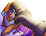 godtier kiss light_aspect magic_dragon no_glasses rose_lalonde seer shipping terezi_pyrope velvet_pillow yoccu