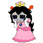 crossdressing crossover crown equius_zahhak mario nintendo poinko solo sweat transparent