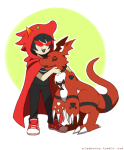 crossover digimon dragon_cape playbunny terezi_pyrope