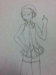crossdressing dave_strider flaxseed grayscale headphones native_source pastiche sketch the_finger vocaloid
