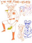 arijandro art_dump blood blush cannibalism fantroll heart hug redrom shipping sitting text thought_balloon weapon