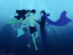 crossover eridan_ampora feferi_peixes free! hubedihubbe swimsuit underwater