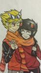 autumn dancestors dirk_strider dream_ghost holding_hands kankri_vantas lieutenant-twink no_glasses redcap shipping wonk