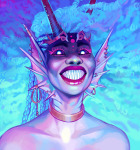 alternate_hair atissi body_modification crown dancestors dream_ghost meenah_peixes solo