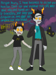 crossover meowvgonspengler rick_and_morty text trollified word_balloon