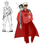 arm_around_shoulder art-emoji art_dump carrying dave_strider fallout godtier gun karkat_vantas knight red_knight_district shipping sleeping time_aspect