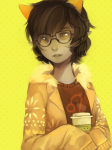 beverage casual fashion freckles glasses_added nepeta_leijon no_hat sangcoon solo