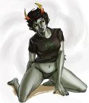kanaya_maryam kneeling redandblacktac solo undergarments