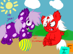 clouds crossover fluffy_pony gamzee_makara invaderfan karkat_vantas my_little_pony ponified