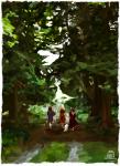 acornbunny aranea_serket back_angle becquerel dancestors dogtier godtier huge jade_harley light_aspect rose_lalonde seer space_aspect trees witch