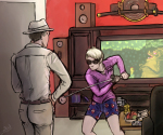 crossover dad dave_strider food gaming katana lenalis marvel metroid nintendo spider-man unknown_crossover