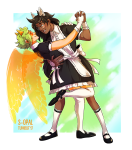 animal_ears catdogcrow dancing davepetasprite^2 holding_hands jade_harley maid redrom s-opal shipping sprite