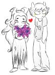 2spooky aradia_megido blush calibratorg flowers heart highlight_color redrom shipping sollux_captor