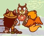 animal_crossing back_angle crossover davesprite dogtail dogtier hat jade_harley nintendo shegnanny sprite word_balloon