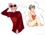 blush dave_strider godtier heart jane_crocker knight minute_maid redrom sajwho shipping thought_balloon time_aspect undergarments