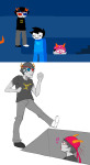 ! breath_aspect comic dancestors double_eyepatch dream_ghost fishmael godtier heir john_egbert meenah_peixes redandblacktac sollux_captor tavros_nitram