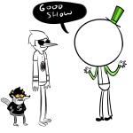 crossover dave_strider doc_scratch karkat_vantas regular_show ticklishsocks word_balloon