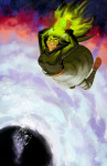 dogtier godtier green_sun jade_harley redandblacktac solo space_aspect stars witch