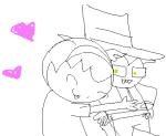 cowboy_hat grimdorks heart hug image_manipulation john_egbert redrom rose_lalonde scribble_mode shadow_of_the_lotus shipping