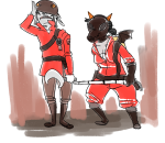 cane crossover karkat_vantas milkwhiterabbit sickle team_fortress_2 terezi_pyrope