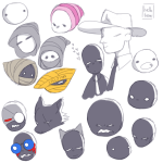 aimless_renegade animal_ears ar art_dump bec_noir bk black_king black_queen blood bq carapaces cd courtyard_droll dad dd ddad draconian_dignitary exiles hb headshot heart hegemonic_brute hellobeau jack_noir ms_paint mspa_reader multiple_personas peregrine_mendicant pm redrom roboslick shipping spades_slick union_jack wayward_vagabond windswept_questant wk wq writ_keeper wv