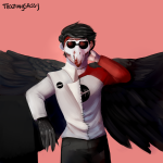 au blood dave_strider heinoustuck puppet_tux red_baseball_tee solo teazingsassy